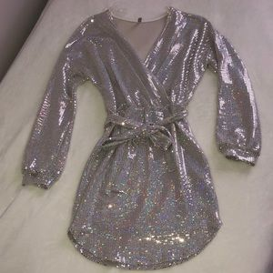 Dresses & Skirts - Shimmer front tie dress
